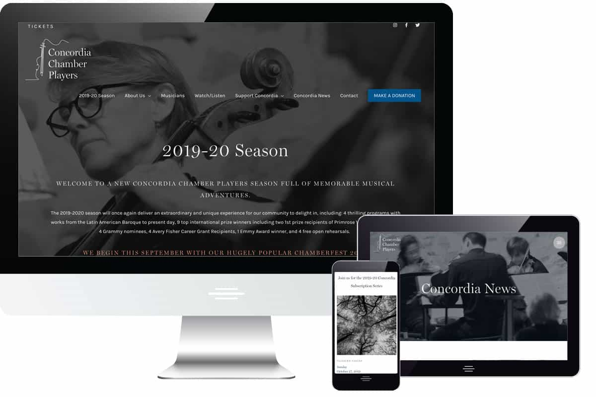 Concordia Chamber Players Website